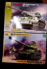 Zvezda Special Soviet Tanks offer 3535 & 3524 (T-34/76 & Joseph Stalin-2) 1/35