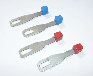 VOLKSWAGEN Air Vent Lever Set of 4 VW T2 Bay Window Bus 2 x Red 2 x Blue