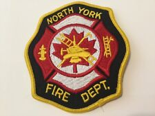 North York Fire Department Shoulder Patch-Old Defunct,Toronto,Ontario,Canada