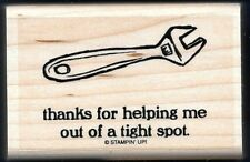 WRENCH HELPING TIGHT SPOT Thanks Totally Tools NEW STAMPIN' UP! RUBBER STAMP