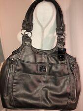 Handbag Tyler Rodan Purse Satchel Bag Zip Dark Pewter Bronze Vegan Leather