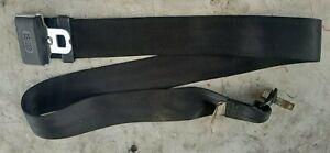 (1) 90-96 Infiniti Q45 Center Rear Seat Lap Belt Black