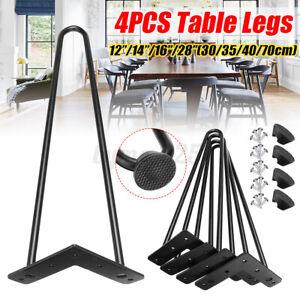 Table Hairpin Steel Legs 3 Rod Industrial Desk Furniture Legs 30/35/40/70cm 4Pcs