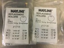 """MAYLINE REPLACEMENT ROLLERS #10706 D LOT OF 2 DELRIN  STEDGE 48""""-- 60"""""""