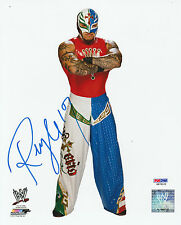 REY MYSTERIO SIGNED AUTO'D 8X10 PHOTO PSA/DNA COA WWE ECW WCW AAA LUCHA MASK B