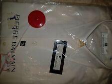 """Cream Pierre Balmain Cotton Rich Shirt 14.5"""" / 37cm"""