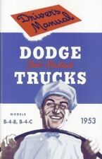 DODGE 1953 Truck Owner's Manual 53 Pick Up