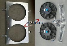"""For NISSAN SILVIA S14 S15 SR20DET Radiator Fan Shroud + 2x12""""Fans"""