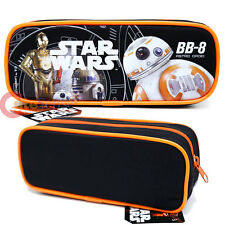 Disney Star Wars BB-8 Pencil Case Zippered Canvas Cosmetic Pouch Bag