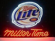 "New Miller Lite Miller Time Beer Neon Light Sign 20""x16"""