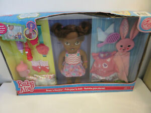 BABY ALIVE DRESS 'N SLUMBER DOLL LARGE PACKAGE HASBRO 2014 DRINKS WETS BOXED