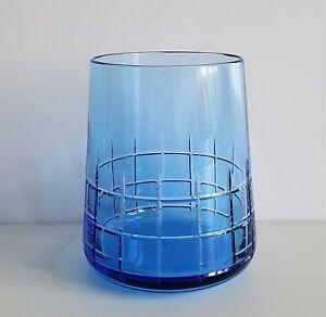 Christofle Graphik Water Tumbler, Blue, New, Signed