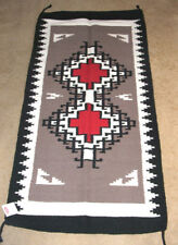 "Throw Rug Tapestry Southwestern Thick Hand Woven Wool 32x64"" 325"