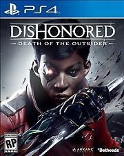 DISHONORED DEATH OF THE OUTSIDER * PLAYSTATION 4 * BRAND NEW FACTORY SEALED!