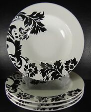 Coventry 222 Fifth Damask Set of 4 Bowls PTS International Black & White