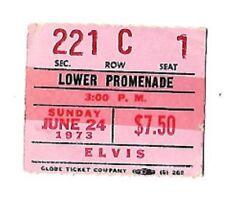 Elvis Presley Original Pink Concert Ticket Uniondale, N.Y. , Nassau 6/24/1973