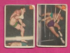 2 X RARE 1954-55 PARKHURST WRESTLING CARD (INV# C1529)