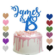 Personalised 18th Glitter Birthday Cake Topper Any Age 13 16 18 21 30 40 50 60