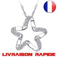 Collier Etoile Argent Chic Pendentif Fille Mariage Accessoires Femme Star Bijoux