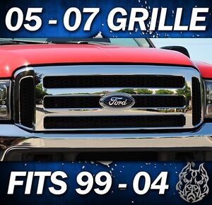 2002 F250 F350 CHROME FORD SUPERDUTY GRILLE SUPER DUTY GRILL