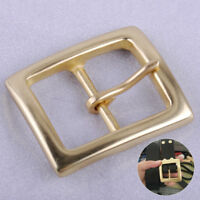 Laiton massif broche Boucle de Ceinture cuir Leather Belt Pin Buckle Clip 38mm