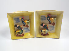 Vintage Florart Hand Decorated Ducks Set of 2 Wall Pockets