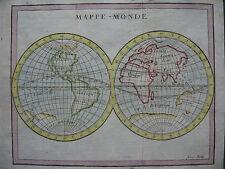 1789 - BUFFIER - Small WORLD MAP  California Island  MAPPE MONDE