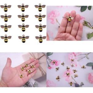 12 Pcs Enamel Bee Charms Colorful Honeybee Pendant For Diy Craft Necklace Bracel