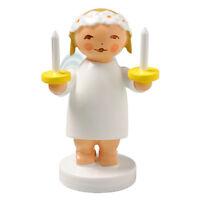 Wendt & Kuhn Snowflake Blonde Angel Figurine Holding Candles