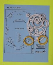 1976 Williams Toledo / Valencia pinball rubber ring kit