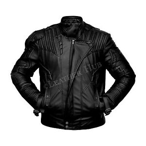 Guardians of the Galaxy Star Lord Chris Pratt Black Leather Jacket