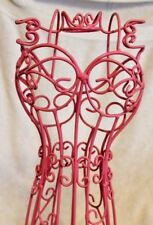 "Pink Wire Mannequin 22"" Metal Sturdy, for Display or Decoration"