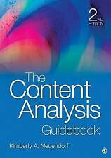 The Content Analysis Guidebook by Neuendorf, Kimberly A.