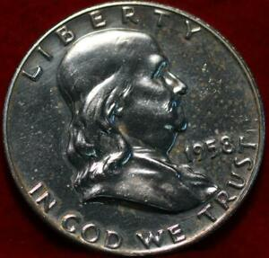 Uncirculated Proof 1958 Philadelphia Mint Silver Franklin Half