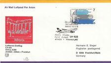 (44504) Greece Lufthansa CoverJeddah - Athens - Frankfurt 16 April 1978