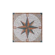 Rosoni rosone mosaico in marmo su rete per interni esterni 66x66 WIND ROSE ROSSO