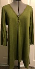 Eileen Fisher Womens Medium Shirt Silk Cotton Long Blouse