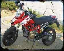 Ducati Hypermotard Troy Replica A4 Photo Print Motorbike Vintage Aged