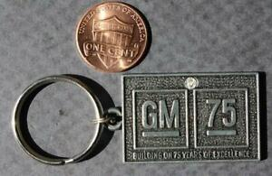 1983 Saginaw Michigan General Motors 75th Anniversary keychain-Iron Foundry!