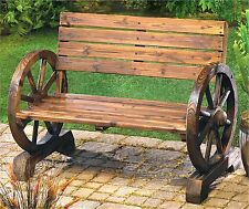WAGON WHEEL GARDEN INDOOR/OUTDOOR BENCH ** NIB