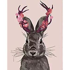 Cute Rabbit DIY 5D Full Drill Diamond Painting Embroidery Kits Arts Decor Mural