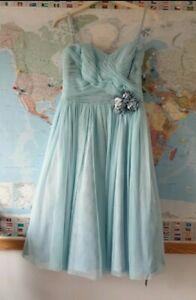 Designer Jenny Packham Blue Bridesmaid Occasion Prom Dress UK 6-8 £160 New