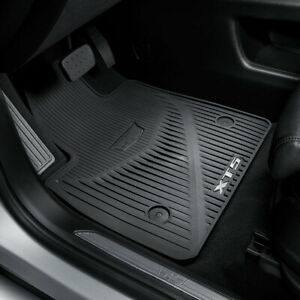 2017-2019 Cadillac XT5 All Weather Front & Rear Floor Mats 84072385 Black OEM GM