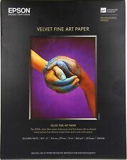 Epson Velvet Fine Art Paper 20 Sheets 8.5 x 11inch 216x279mm S041636 - BRAND NEW