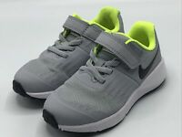 Nike Star Runner Child Size 12.5c Shoes Grey Volt 921443-002 Brand New!