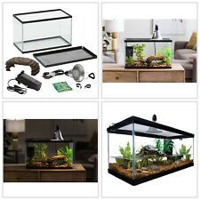 Aquatic Reptile Habitat Starter Kit Turtle Aquarium Tank Lamp 10-Gal Capacity