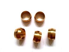 Ф12mm Hole Diameter Brass Olive Barrel Compression Sleeve Ferrule Ring 5pcs