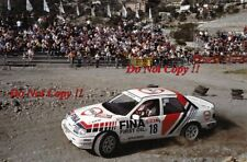 MARC DUEZ Ford Sierra RS Cosworth 4x4 San Remo Rally 1990 photo Graph 2