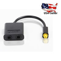 Toslink Digital Optical Fiber Audio Y Splitter 1 to 2 Cable Adapter Hifi for DVD