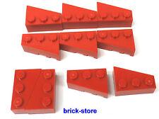 LEGO 2x3 Bloque de construcción Base tejas / keilsteine Izquierda / 10-pc
